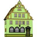 download Town Hall Bad Rodach clipart image with 45 hue color