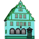 download Town Hall Bad Rodach clipart image with 135 hue color