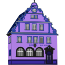 download Town Hall Bad Rodach clipart image with 225 hue color