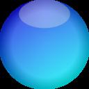 Empty Button Blue