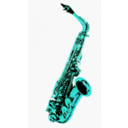 download Saxophone clipart image with 135 hue color