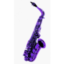 download Saxophone clipart image with 225 hue color