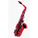 download Saxophone clipart image with 315 hue color