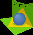 Brazil Flag Art 3d