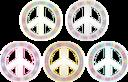 Peace Symbol Pastels
