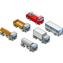 Six Isometric Vehicles