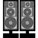 download Stereo Speaker clipart image with 225 hue color
