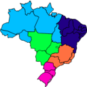 download Colored Map Of Brazil clipart image with 135 hue color