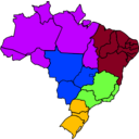 download Colored Map Of Brazil clipart image with 225 hue color