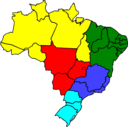 Colored Map Of Brazil