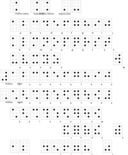 Braille Alphabet Francais