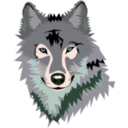download Wolf clipart image with 135 hue color