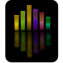 download Music Equalizer 4 clipart image with 45 hue color