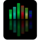 download Music Equalizer 4 clipart image with 135 hue color