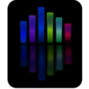 download Music Equalizer 4 clipart image with 225 hue color