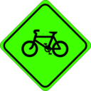 download Roadsign Watch For Bicycles clipart image with 45 hue color