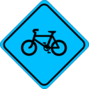 download Roadsign Watch For Bicycles clipart image with 135 hue color