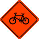 download Roadsign Watch For Bicycles clipart image with 315 hue color