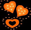 Valentine Orange Hearts