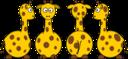 Cartoon Giraffe Front Back And Side Views