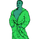 download Man In Bathrobe 2 clipart image with 135 hue color