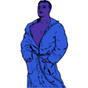 download Man In Bathrobe 2 clipart image with 225 hue color