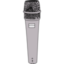 download Microphone clipart image with 225 hue color