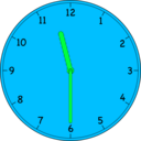 download Clock clipart image with 135 hue color
