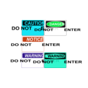 download Do Not Enter Signs clipart image with 135 hue color