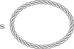 Rope Border Oval