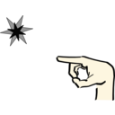 Hand Pointing At Star 2