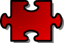 Red Jigsaw Piece 02