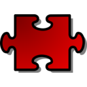 Red Jigsaw Piece 02