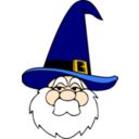 Wizard In Blue Hat