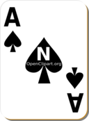 White Deck Ace Of Spades