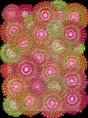 Pink Lime Circle Pattern Scrapbook Paper