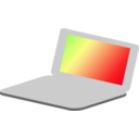 download Laptop Simple Icon clipart image with 45 hue color