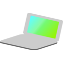 download Laptop Simple Icon clipart image with 135 hue color