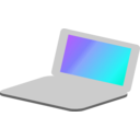 download Laptop Simple Icon clipart image with 225 hue color