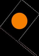 Black Orange Flag