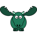 download Cartoon Moose clipart image with 135 hue color