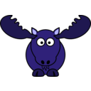 download Cartoon Moose clipart image with 225 hue color