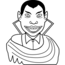 download Vampire clipart image with 315 hue color