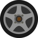 Simple Car Wheel Tire Side View