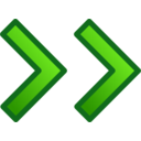 Green Double Arrows Set