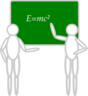 People Near A Blackboard
