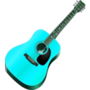 download My Guitar clipart image with 135 hue color