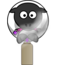 download Spray Can Sheep clipart image with 225 hue color