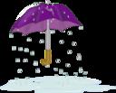 Tattered Umbrella In Rain