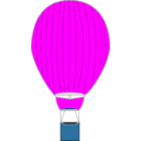 download Hot Air Balloon clipart image with 180 hue color